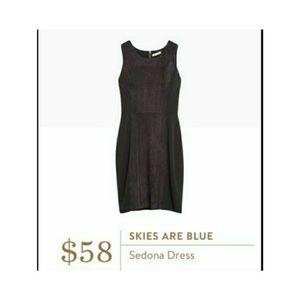 NWT skies are blue  Sedona dress petite  black L/P